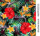 tropical flowers pattern | Shutterstock .eps vector #460932211