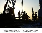 oil drilling exploration  the... | Shutterstock . vector #460939039