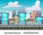 cartoon vector urban landscape...