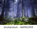 3d Rendering Of A Woodland...
