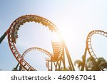 Blurred Roller Coaster Ride In...