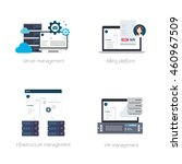 software solutions for hosting... | Shutterstock .eps vector #460967509