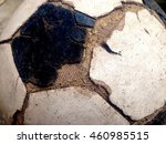 old used football or soccer... | Shutterstock . vector #460985515