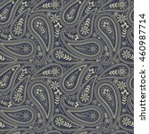 Seamless Paisley Pattern In...
