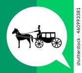 horse coach icon | Shutterstock .eps vector #460993381