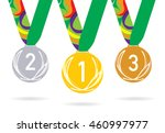 three medals with the laurel... | Shutterstock .eps vector #460997977