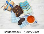 happy father's day concept.... | Shutterstock . vector #460999525