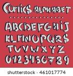 comics font. poster comics 3d... | Shutterstock .eps vector #461017774