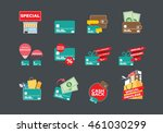 online shopping icon  credit... | Shutterstock .eps vector #461030299