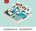 beautiful isometric style... | Shutterstock .eps vector #461036674