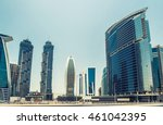 dubai business bay  united arab ... | Shutterstock . vector #461042395