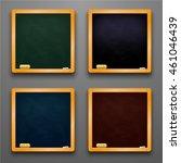 set of school chalk boards. | Shutterstock .eps vector #461046439