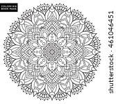 flower mandalas. vintage... | Shutterstock .eps vector #461046451