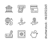 banking icons set  thin line ...   Shutterstock .eps vector #461052265