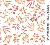 seamless plant background.... | Shutterstock .eps vector #461052301