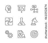 management and strategy icons... | Shutterstock .eps vector #461052874