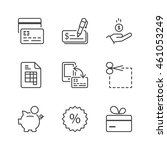 payment methods icons set  thin ... | Shutterstock .eps vector #461053249