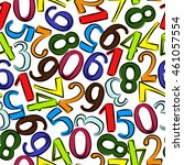 numbers seamless pattern. hand... | Shutterstock . vector #461057554