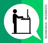 man working at standing desk... | Shutterstock .eps vector #461060251