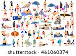 sunny day on the beach vector... | Shutterstock .eps vector #461060374