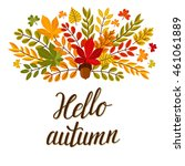 vector autumn background with... | Shutterstock .eps vector #461061889