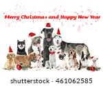 Funny Christmas Dogs. Merry...