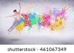 modern street dancer jumping... | Shutterstock . vector #461067349