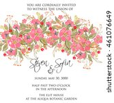 wedding invitation or card with ... | Shutterstock .eps vector #461076649