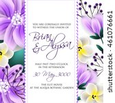 wedding invitation or card with ... | Shutterstock .eps vector #461076661