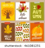 vector set of autumn... | Shutterstock .eps vector #461081251