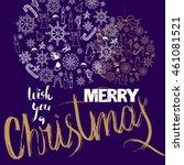 christmas gold ball made of... | Shutterstock .eps vector #461081521