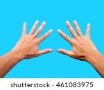 left hand and right hand... | Shutterstock . vector #461083975