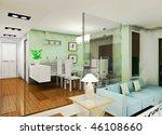 a fashion living room design | Shutterstock . vector #46108660