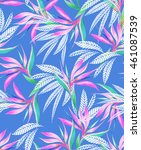 vibrant seamless floral pattern ... | Shutterstock . vector #461087539