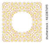 Frame With Floral Ornament Wit...
