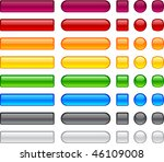 blank web buttons. vector... | Shutterstock .eps vector #46109008