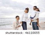 happy african american family... | Shutterstock . vector #46110055