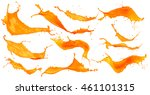 abstract orange color splash... | Shutterstock . vector #461101315
