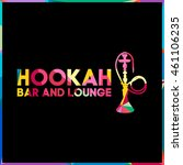 colored triangle polygon hookah ... | Shutterstock .eps vector #461106235