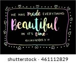 bible quote.he has made... | Shutterstock .eps vector #461112829