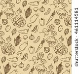 vintage pattern of hand drawn... | Shutterstock .eps vector #461114581