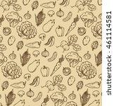 vintage pattern of hand drawn... | Shutterstock .eps vector #461114581