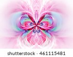 Abstract Orchid Flower On Whit...