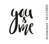 you and me modern calligraphy...