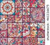 seamless tile pattern moroccan... | Shutterstock .eps vector #461116675