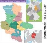 map of saxony anhalt | Shutterstock .eps vector #461117239