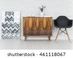 graphic wooden commode... | Shutterstock . vector #461118067