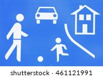 road  sign game  road t ... | Shutterstock . vector #461121991