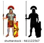 roman empire legion warrior and ... | Shutterstock .eps vector #461122567