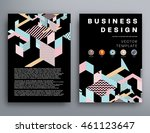 annual report brochure template ... | Shutterstock .eps vector #461123647